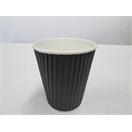 12oz Black Ripple Wrap  Cup