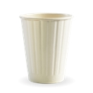 BIO 8OZ WHITE DOUBLE WALL CUP