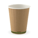 BIO 12OZ DOUBLE WALL GREEN STRIPE CUP