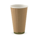 BIO 16 OZ DOUBLE WALL GREEN STRIPE CUP