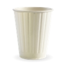 BIO WHITE 12OZ  DOUBLE WALL CUP