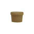 8oz Kraft Soup or Ice Cream Container & Lid Combo